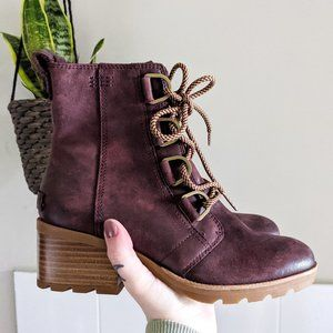 New Sorel Cate Waterproof Lace-Up Heeled Boot